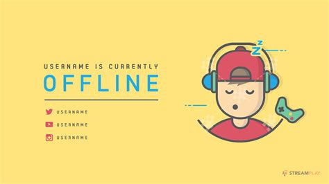twitch offline banner template size twitch banner template pictures to pin on pinterest