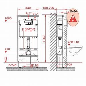 Dimension Wc Suspendu : bati support wc suspendu geberit up320 autoportant ~ Premium-room.com Idées de Décoration