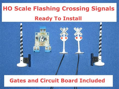 Lighted Flashing Led Bachmann Crossing Signals