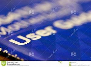 Closeup View Of Cover Of User Guide Book Stock Photo