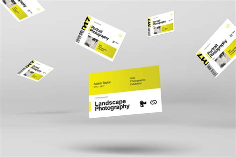Photography Exhibition Business Card Template PSD Ai