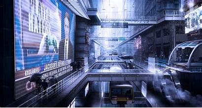 Futuristic Sci Fi Future Concept Station Train