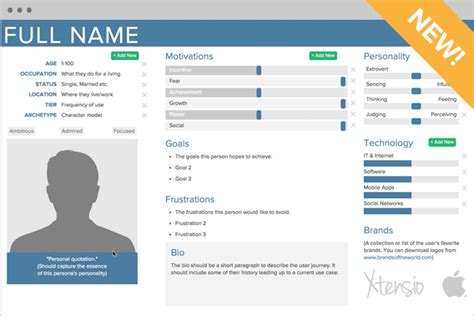 customer persona template our user persona template on behance