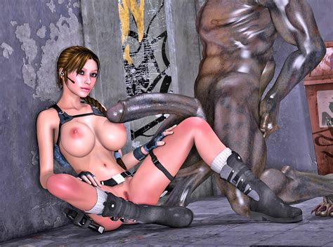 3d Fantasy Monster Porn With Tomb Raider Giving Blowjob