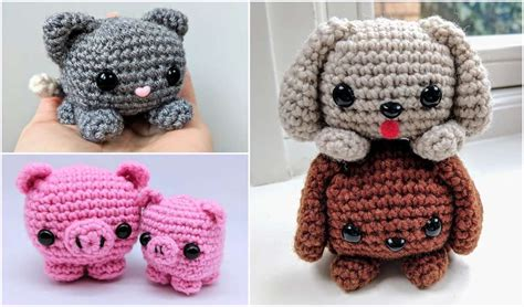easy cube animals  crochet pattern