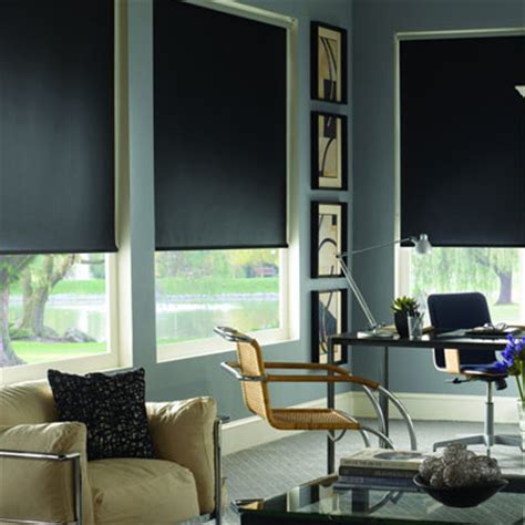 blackout roller shades for media room contemporary