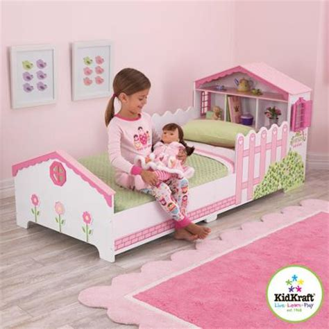 Kidkraft Dollhouse Toddler Bed by Kk 0014 Kidkraft Dollhouse Toddler Bed 木製小花園兒童床架
