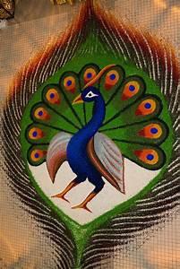 RANGOLI PHOTOS: peacock rangoli designs