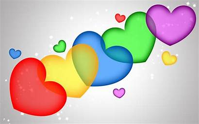 Hearts Colorful Wallpapers Heart Background Desktop Backgrounds