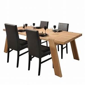 Tisch Mit Stühlen : tisch mit st hlen senade 5 teilig eichefarben braun home24 ~ Indierocktalk.com Haus und Dekorationen