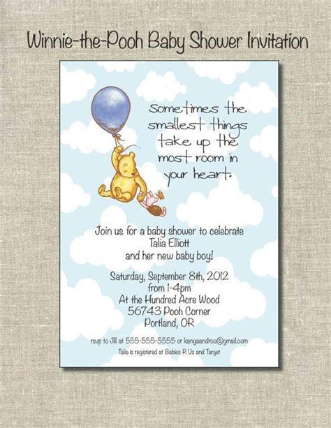 winnie  pooh baby shower invitationdigital file