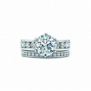 Channel set tiffany engagement ring and wedding band for Wedding ring sets tiffany