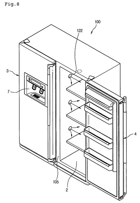 Patent US7240511 - Cold air path structure of refrigerator