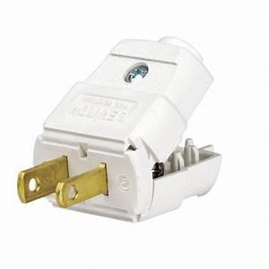 Leviton 15 Amp 125-volt Light-duty Plug-r52-00101-0wp
