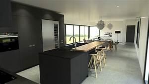Cuisine Avec Ilot : cuisine industriel design gris ilot ~ Melissatoandfro.com Idées de Décoration