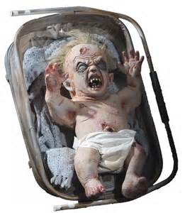 Animatronic Halloween Props by Animated Zombie Baby Decorations Amp Props