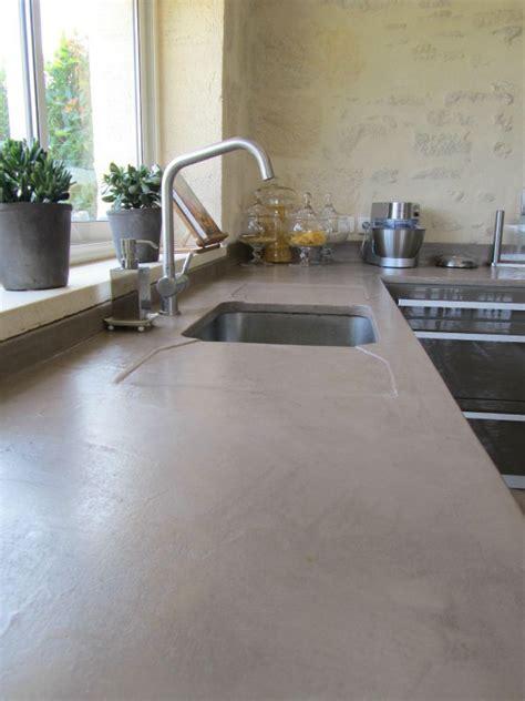 cuisine plan de travail en beton cire photo de beton cire catherine pendanx