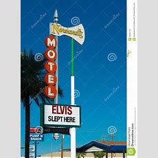 Historical Elvis Slept Here Sign In Las Vegas Editorial Photo  Image 35084116