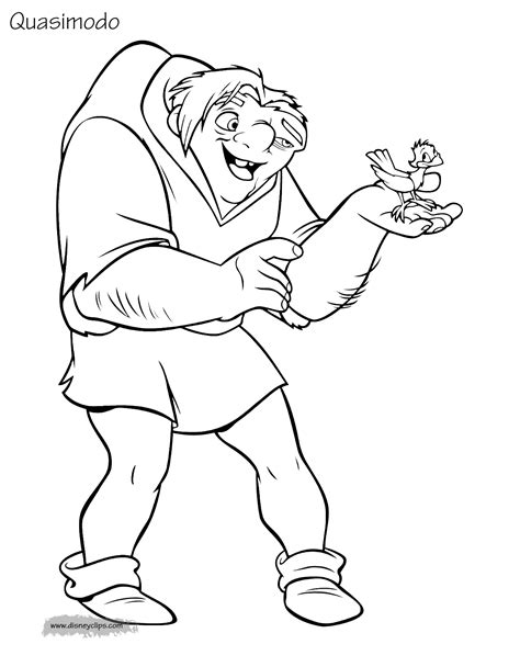 Coloring Pictures by The Hunchback Of Notre Dame Coloring Pages Disneyclips