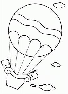Images Of Hot Air Balloon Basket Coloring Page Golfclub