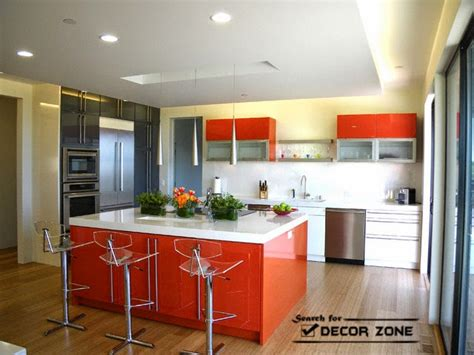 orange kitchen decor  ideas  designs