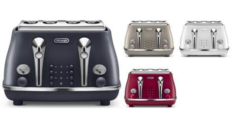 Delonghi 4 Slice Toaster by Buy De Longhi Icona Elements 4 Slice Toaster Harvey