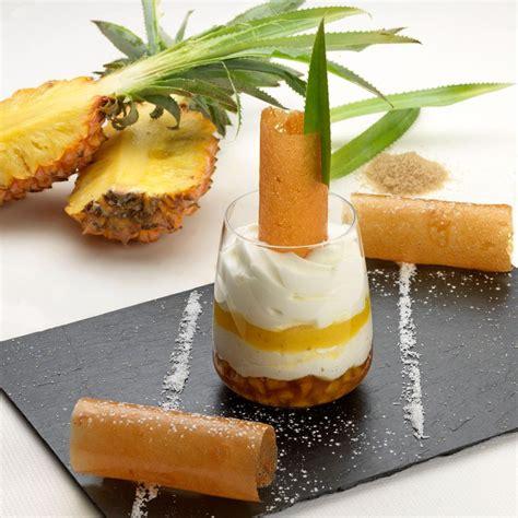 dessert noix de coco ananas blanc manger d ananas confit 233 mulsion noix de coco arts gastronomie
