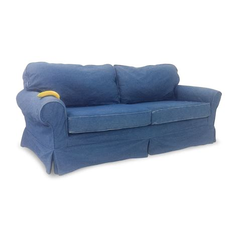 Blue Denim Loveseat by 78 Blue Denim Sofas