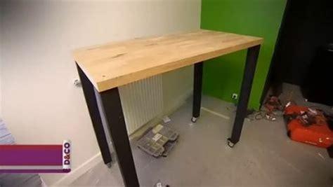 fabriquer une table bar de cuisine fabriquer table haute table de lit