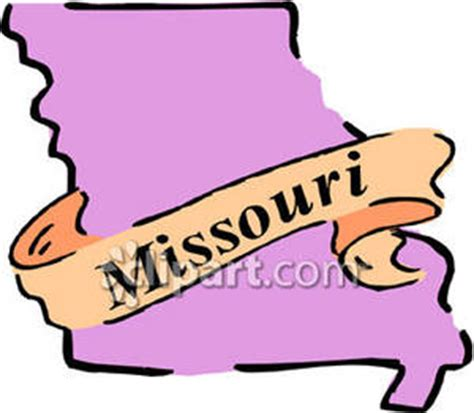 Cost Of Missouri Boating License by The State Of Missouri Royalty Free Clipart Picture