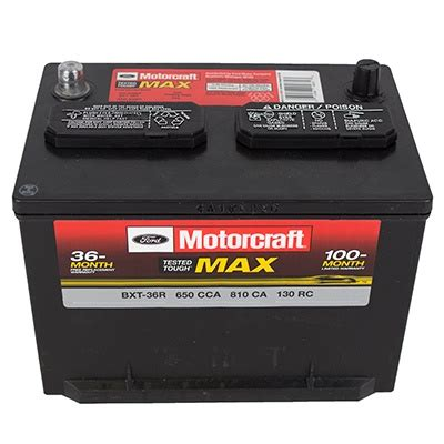 batterie ford battery ford bxt 36 r oem ford parts