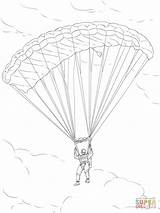 Parachute Coloring Drawing Army Pages Paratrooper Printable Drawings Template Sketch Dot Popular sketch template