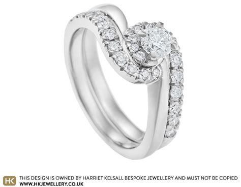 palladium wedding ring sets uk 0 51ct and palladium twist engagement and wedding