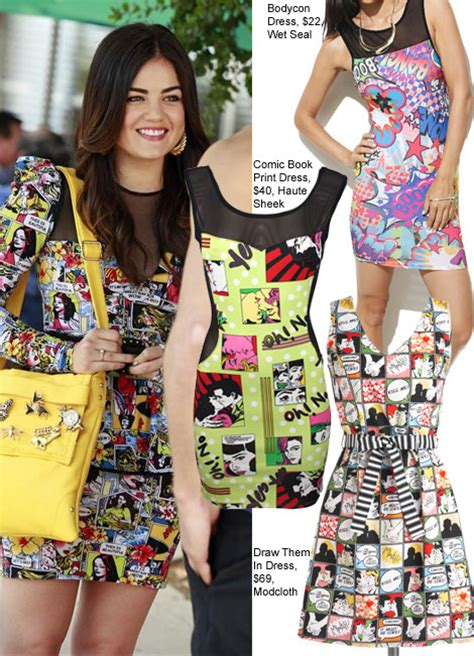 Copy Lucy Hale's Comic Book Print Dress From Pretty Little ...