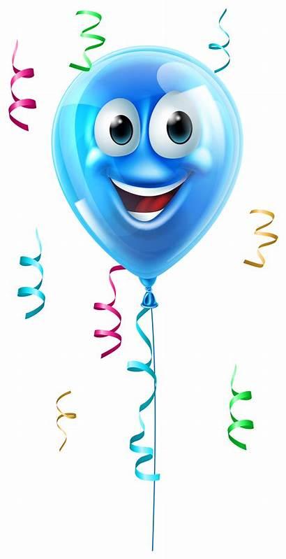 Balloon Face Clipart Balloons Birthday Smiley Cartoon