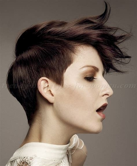 short hairstyles   short punk hairstyle for women   trendy