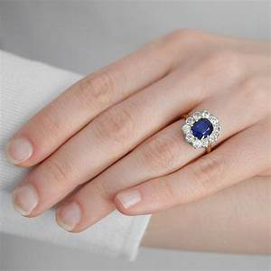 edwardian 14kt platinum sapphire diamond ring 200ct With diana wedding ring