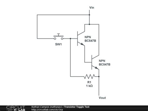 basic transistor toggle not working electrical engineering stack exchange