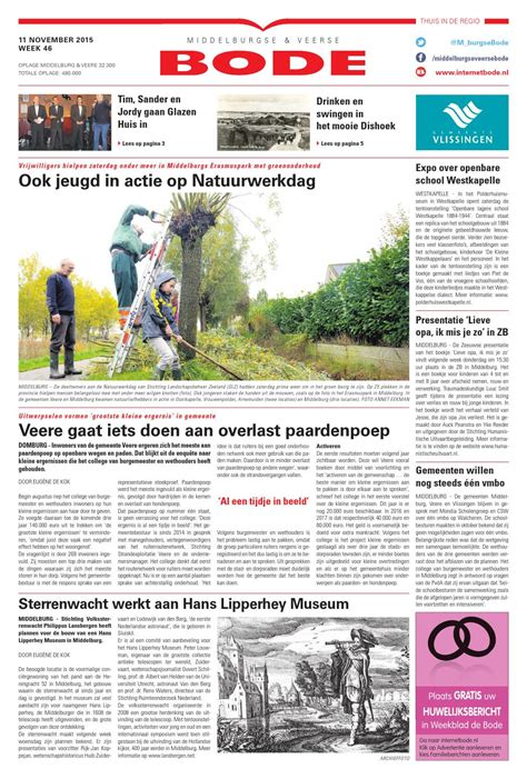 glazen huis westkapelle middelburg veerse bode 11 11 2015 by uitgeverij de bode