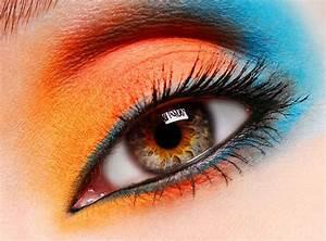 Bleu Et Orange : maquillage yeux orange et bleu make up maquillage pinterest ~ Nature-et-papiers.com Idées de Décoration