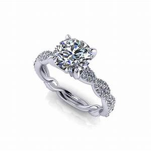 carat round infinity engagement ring jewelry designs With wedding ring infinity design