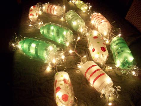 Light Up Candy Garland.. Cut Ends Off Soda Bottles Paint