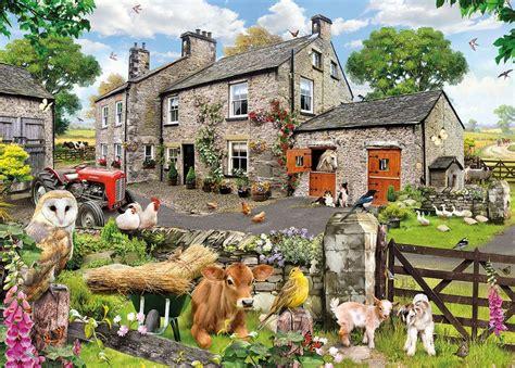 Thomas Kinkade Christmas Tree Village by Farmyard Friends 1000 Piece Jigsaw Puzzle Free Delivery