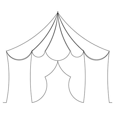 Kleurplaat Cing Tent by Tent Free Coloring Pages
