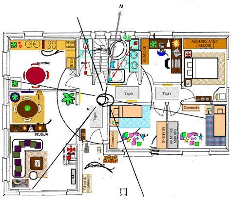 plan chambre feng shui étude feng shui sur plan de maison eveil nature bio
