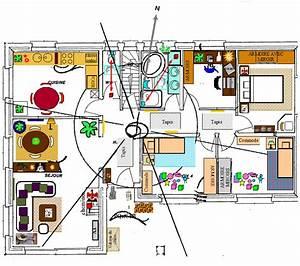 etude feng shui sur plan de maison eveil nature bio With plan chambre feng shui
