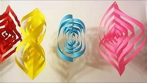 Guirlande En Papier Crépon : comment fabriquer une guirlande 3d en papier youtube ~ Melissatoandfro.com Idées de Décoration