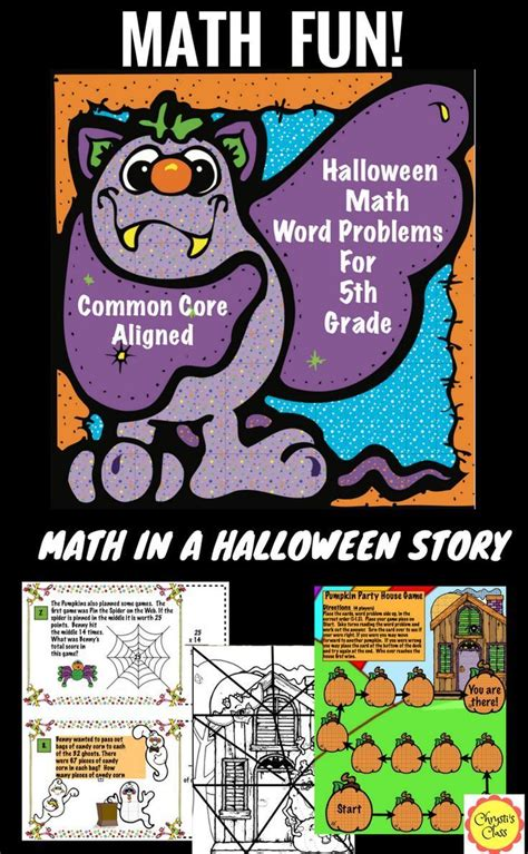 halloween math word problems for 5th grade common core