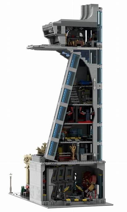 Avengers Tower Moc Modular Stark Lego Interior