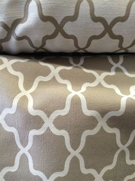 Drapery Fabric By The Yard by Grey Geometric Reversiable Drapery Upholstery Fabric Sold